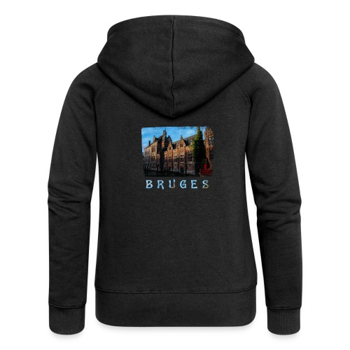 Bruges | Old houses - Vrouwenjack met capuchon Premium
