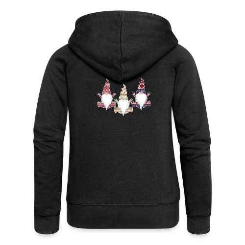 Ugly Christmas Sweater Gnome - Women's Premium Hooded Jacket
