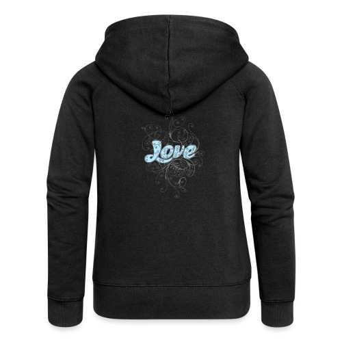 LOVE CON DECORI - Felpa con zip premium da donna
