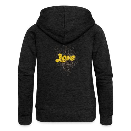 Scritta Love con decorazione - Felpa con zip premium da donna