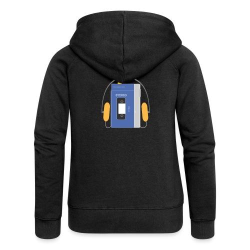 Stereo walkman in blue - Women's Premium Hooded Jacket
