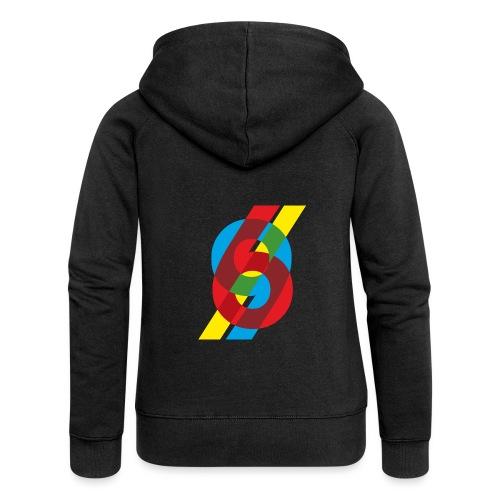 colorful numbers - Women's Premium Hooded Jacket