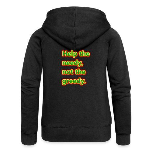 help - Women's Premium Hooded Jacket