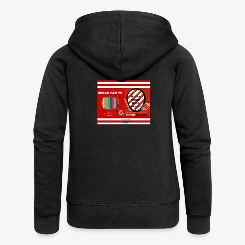 Sponsored by Logo - Women's Premium Hooded Jacket