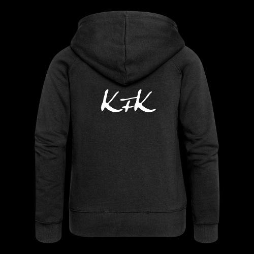 KFK logo blanco - Chaqueta con capucha premium mujer