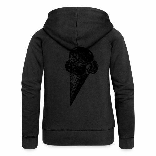 Ice Cream Graphic in black and white - Frauen Premium Kapuzenjacke