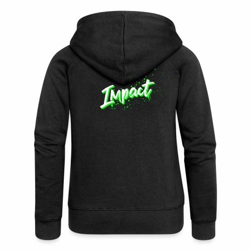 Impact Neon Logo - Women's Premium Hooded Jacket