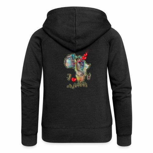 I love africa - Women's Premium Hooded Jacket