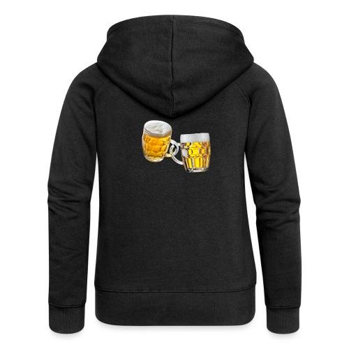 Boccali di birra - Felpa con zip premium da donna