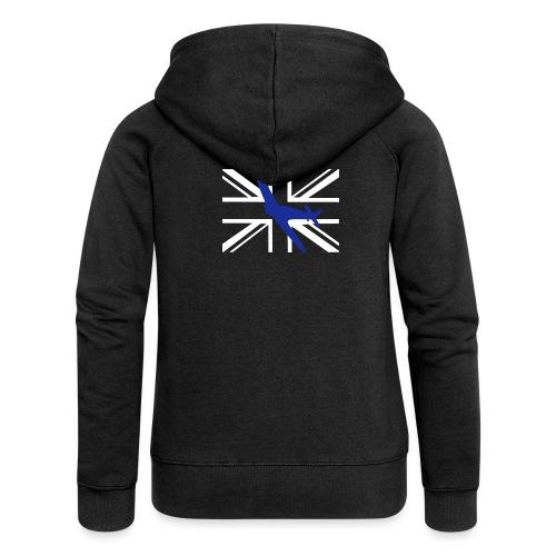 ukflagsmlWhite - Women's Premium Hooded Jacket