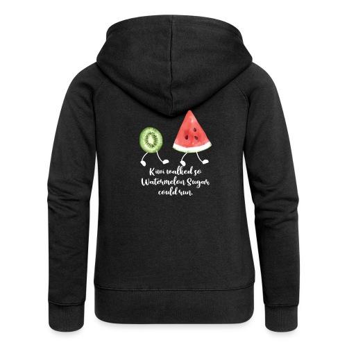 Kiwi Walked So Watermelon Sugar Could Run - Women's Premium Hooded Jacket
