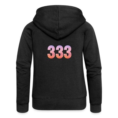 333 vous étes entouré de maitres ascensionnés - Veste à capuche Premium Femme
