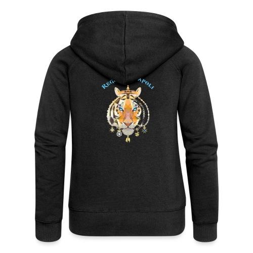 regno di napoli tigre - Felpa con zip premium da donna