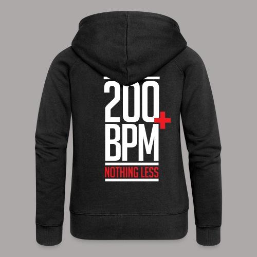 200 BPM Nothing Less White Red - Vrouwenjack met capuchon Premium