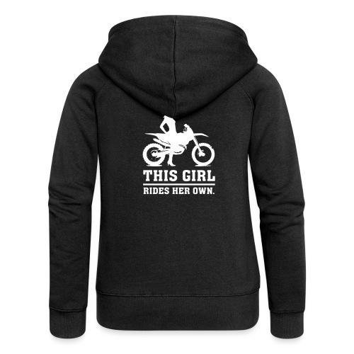 This Girl rides her own - Dirt bike - Naisten Girlie svetaritakki premium