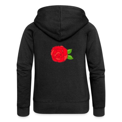 Róża - Rozpinana bluza damska z kapturem Premium