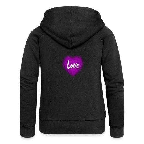 Love - Veste à capuche Premium Femme