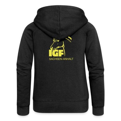 igf gelb - Frauen Premium Kapuzenjacke