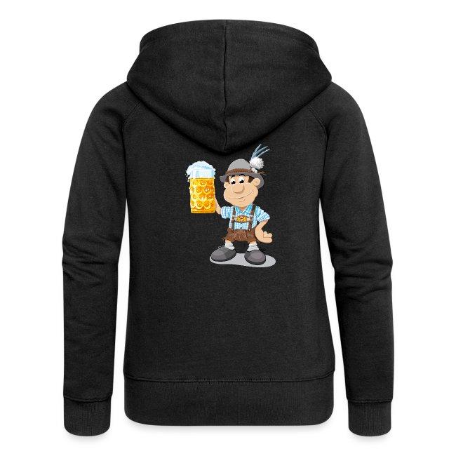 Bier Maßkrug Lederhosen Cartoon Man