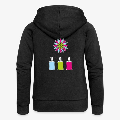 SOLRAC Spray of colors - Chaqueta con capucha premium mujer