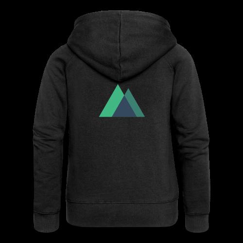 Mountain Logo - Women's Premium Hooded Jacket