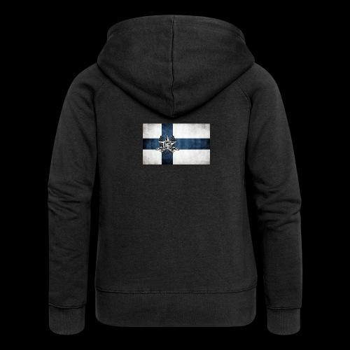 Suomen lippu - Naisten Girlie svetaritakki premium