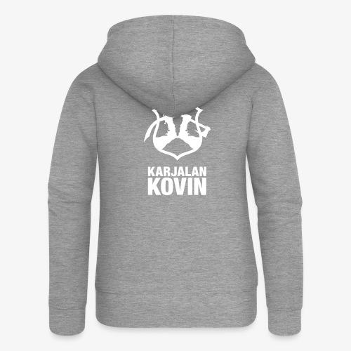Karjalan Kovin Iso logo - Naisten Girlie svetaritakki premium