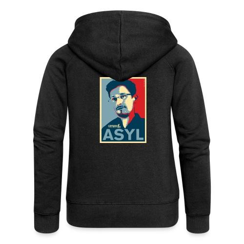 Asyl für Edward Snowden - Frauen Premium Kapuzenjacke
