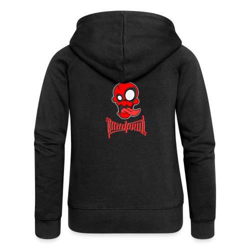 MAD SKULL - Deadpool - Felpa con zip premium da donna