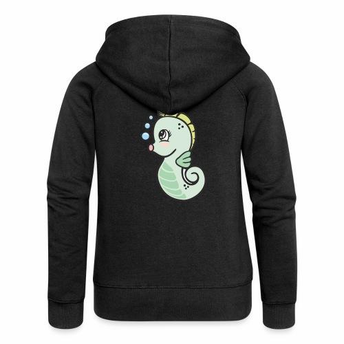 Seepferdchen grün - Frauen Premium Kapuzenjacke