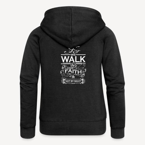 walk white - Women's Premium Hooded Jacket