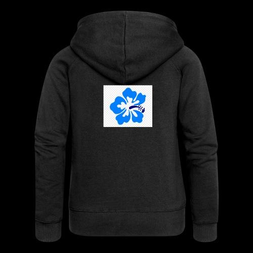 hawaiian flower - Women's Premium Hooded Jacket