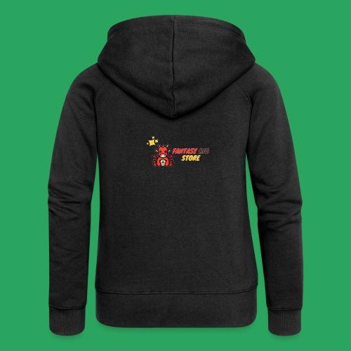 Fantasy big store - Felpa con zip premium da donna