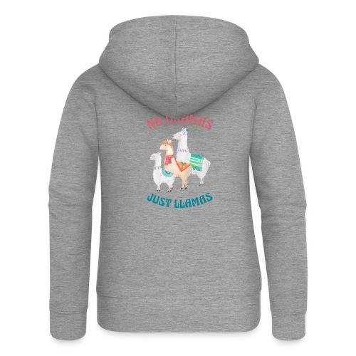 No Dramas Just Llamas - Women's Premium Hooded Jacket