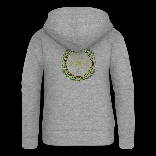 Norse Runes with Aegishjalmur 2017 - Women's Premium Hooded Jacket