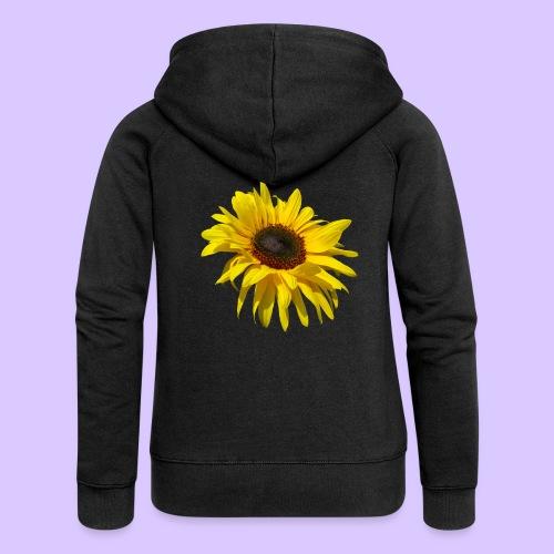 blühende Sonnenblume, Sonnenblumen, Blumen, Blüten - Frauen Premium Kapuzenjacke