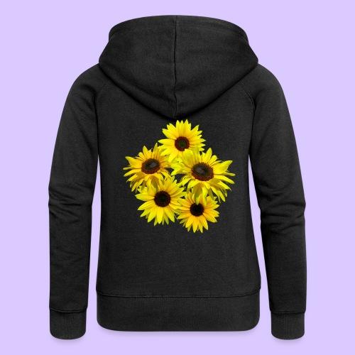 Sonnenblumenstrauss, Sonnenblume, Sonnenblumen - Frauen Premium Kapuzenjacke