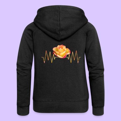 Rose, Herzschlag, Rosen, Blume, Herz, Frequenz - Frauen Premium Kapuzenjacke