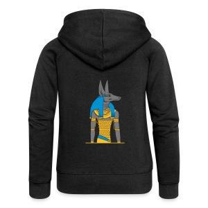 Der altägyptische Gott Anubis - Frauen Premium Kapuzenjacke