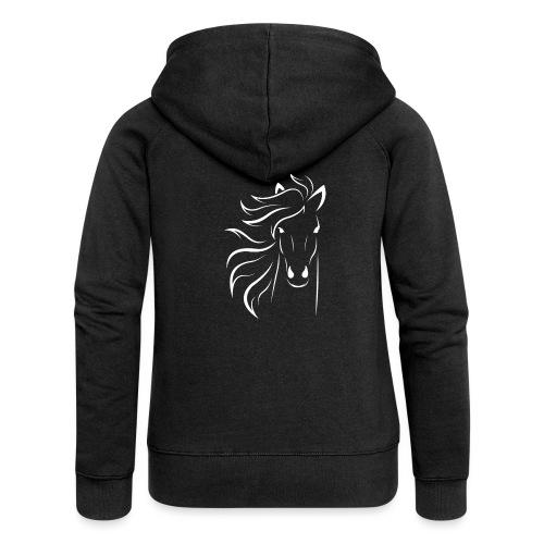 pferd silhouette - Frauen Premium Kapuzenjacke