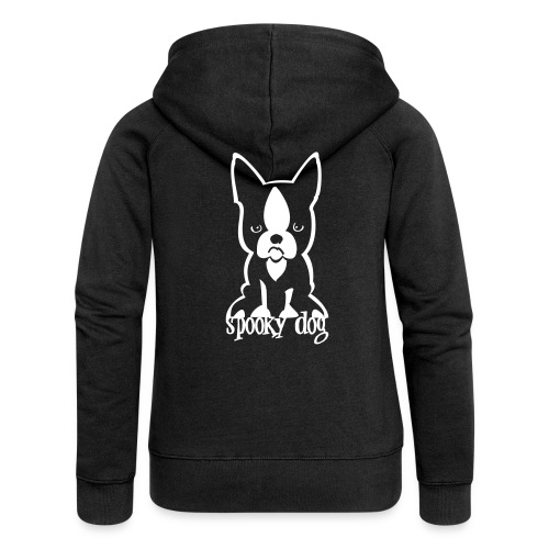 spooky dog sitzend - Women's Premium Hooded Jacket