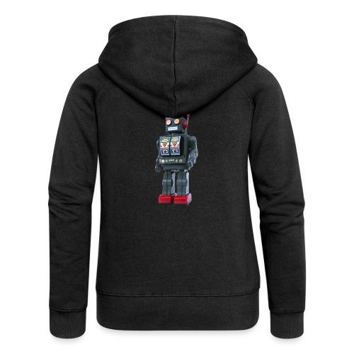T-Shirt ROBOT - Felpa con zip premium da donna