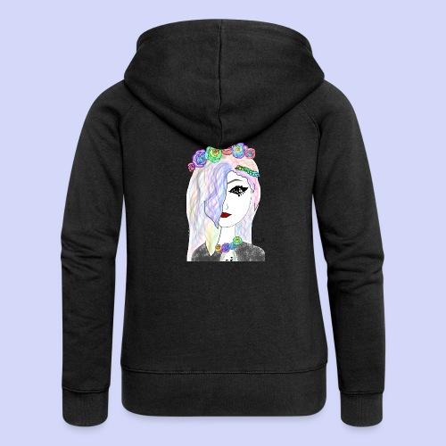 Rainbow flower girl - Female shirt - Dame Premium hættejakke