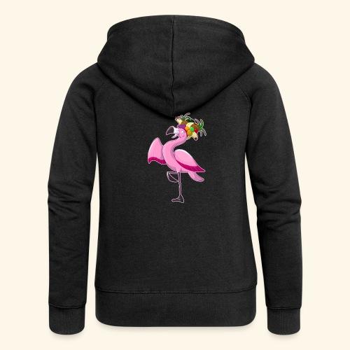 Flamingo - Frauen Premium Kapuzenjacke
