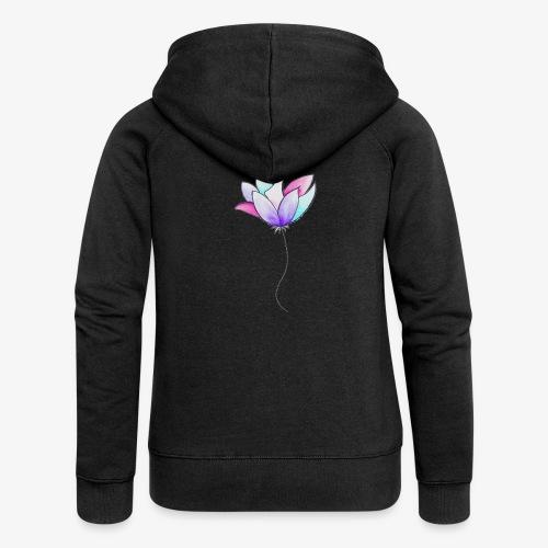 Fleur - Veste à capuche Premium Femme