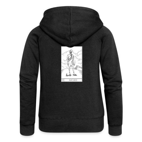 SLAV TAROT III - Rozpinana bluza damska z kapturem Premium