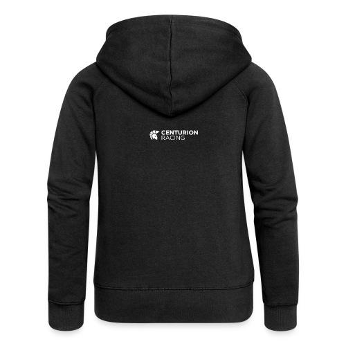 Full Centurion Logo White - Women's Premium Hooded Jacket