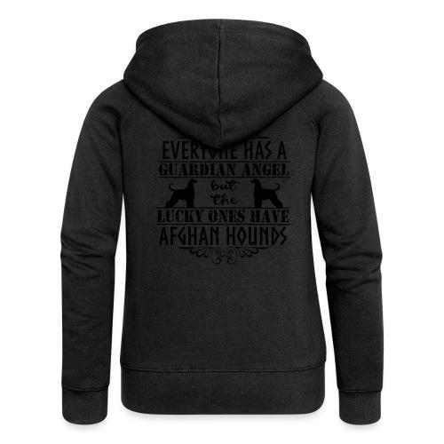 Afghan Hound Angels - Women's Premium Hooded Jacket