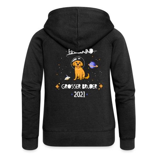 Großer Bruder 2021 Astronauten Hund Planeten - Frauen Premium Kapuzenjacke