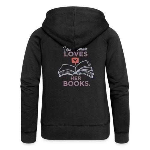 0218 Frau | Bücher | Liebe | Leserin | Bloggerin - Women's Premium Hooded Jacket